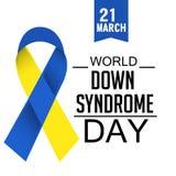 Jour de trisomie 21 du monde image libre de droits