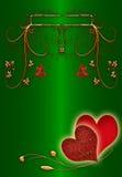 Jour de valentines abstrait vert Photo libre de droits