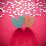 Jour de valentines avec le fond de coeurs Image libre de droits