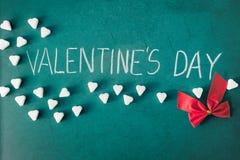 Jour de valentines avec les coeurs et le ruban de sucre Photographie stock libre de droits