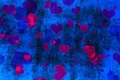 Jour de valentines bleu et rouge Image libre de droits