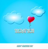 Jour de Valentines - coeur de ballon Photos stock