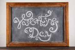 Jour de valentines d'inscription sur le tableau noir Photo libre de droits