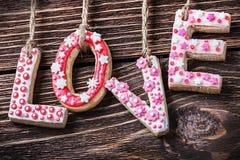 Jour de valentines de biscuits Photo libre de droits