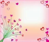 Jour de Valentines de carte Photos libres de droits
