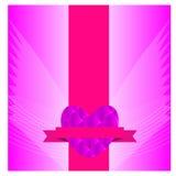 Jour de valentines de carte Image stock