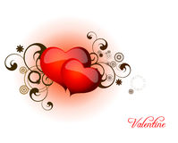 Jour de Valentines de coeur Image libre de droits