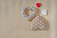 Jour de valentines de coeurs photos stock