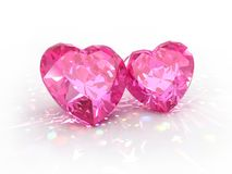 Jour de Valentines de coeurs de bijou de diamant Photographie stock