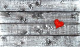 Jour de valentines en bois d'amour de fond de coeur rouge Image libre de droits