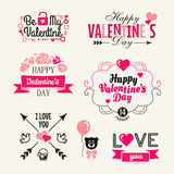 Jour de valentines - ensemble de typographie illustration stock