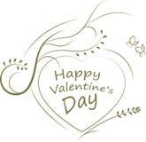 Jour de valentines heureux Images libres de droits