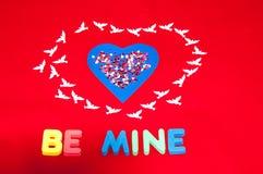 Jour de valentines heureux. Amour et bonheur. Images libres de droits
