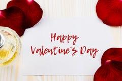 Jour de valentines heureux avec des roses Images stock