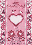 Jour de Valentines heureux ! Carte de vacances. Photographie stock