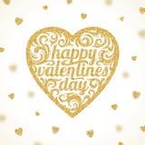 Jour de valentines heureux - carte de voeux illustration libre de droits
