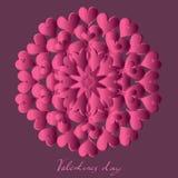 Jour de valentines heureux, carte de vecteur illustration stock