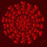 Jour de valentines heureux, carte de vecteur image stock