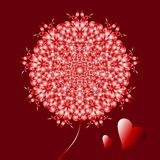 Jour de valentines heureux, carte de vecteur illustration de vecteur
