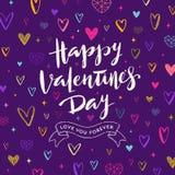 Jour de valentines heureux - carte de voeux illustration de vecteur