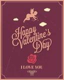 Jour de valentines heureux de cadre de vacances Images libres de droits