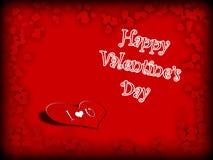 Jour de valentines heureux de carte postale Photographie stock libre de droits