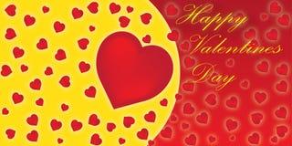 Jour de valentines heureux de carte postale Image stock