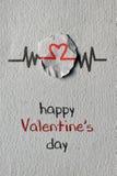 Jour de valentines heureux de coeur et de textes Images stock