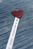 Jour de valentines heureux de coeur et de textes Photo stock