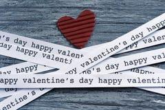 Jour de valentines heureux de coeur et de textes Image libre de droits