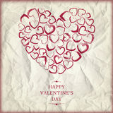 Jour de valentines heureux de fond Images libres de droits