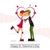 Jour de valentines heureux de St Photographie stock