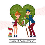 Jour de valentines heureux de St Photos libres de droits