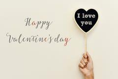 Jour de valentines heureux des textes et je t'aime Image stock