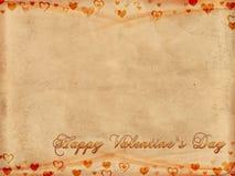 Jour de valentines heureux sur le vieux papier Photos stock