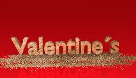 Jour de valentines, illustration 3D Images libres de droits