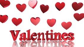 Jour de valentines, la meilleure 3D illustration, la meilleure animation banque de vidéos