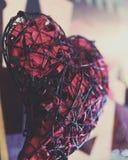 Jour de valentines de qualité de studio de Rose rouge en métal Images libres de droits