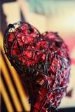 Jour de valentines de qualité de studio de Rose rouge en métal Photos stock