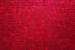 Jour de valentines rouge abstrait de fond Photographie stock