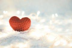 Jour de valentines rouge d'amour de coeur Photographie stock libre de droits