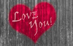 Jour de valentines rouge de coeur Photos stock