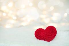 Jour de valentines rouge de coeur et d'amour Images libres de droits