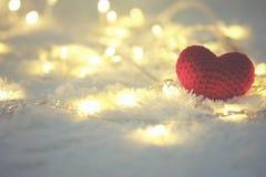 Jour de valentines rouge de coeur et d'amour Image libre de droits