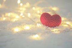 Jour de valentines rouge de coeur et d'amour Photos stock