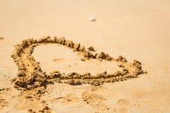 Jour de valentines sur la plage Photo libre de droits