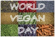 Jour de vegan du monde image libre de droits