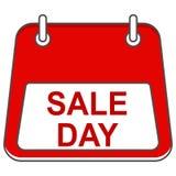 Jour de vente sous la forme de calendrier Course editable d'icône de vecteur images stock