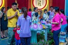 Jour de Vesak baignant le Bouddha Photos libres de droits