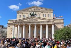 Jour de victoire au théâtre de Bolshoi à Moscou. Image stock
